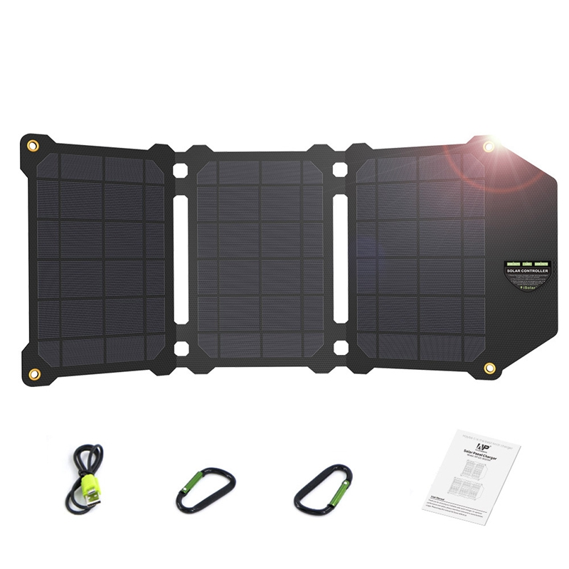 21W Portable Solar Panel Foldable Dual Usb Charger Outdoor Camping Conversion For Mobile Phone Tab