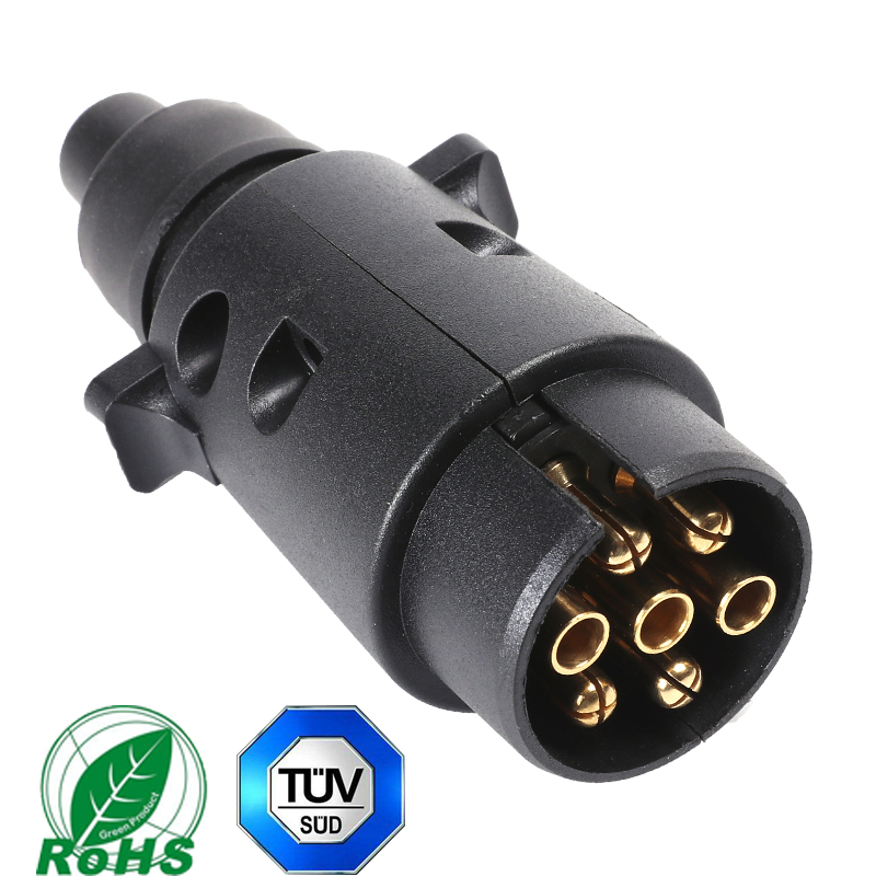 Image 2 - 12 v 7 pin trailer male plug adapter connector 7 way core truck rv car accessory lorry female plastic socket Towing Electric-in Trailer Couplings & Accessories from Automobiles & Motorcycles