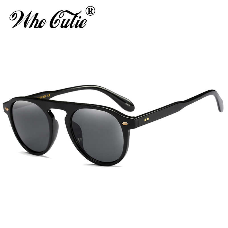 0afb9e1380d WHO CUTIE Fashion Round Sunglasses Vintage Men Women Brand Designer Small  Face Frame Yellow Lens Retro
