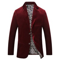 ICPANS Blazers Casual Corduroy Single Breasted Business Office Men Suits Blazer Spring Autumn Mens Blazers Size XXXL 2018 New