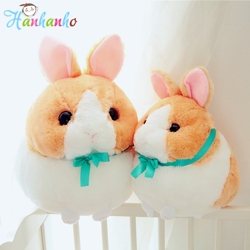 Super Fluffy Round Shape Rabbit Plush Toy Soft Bunny Doll Kids Birthday Gift Christmas Present Stuffed Animal Toys 33cm super cute plush toy dog doll as a christmas gift for children s home decoration 20