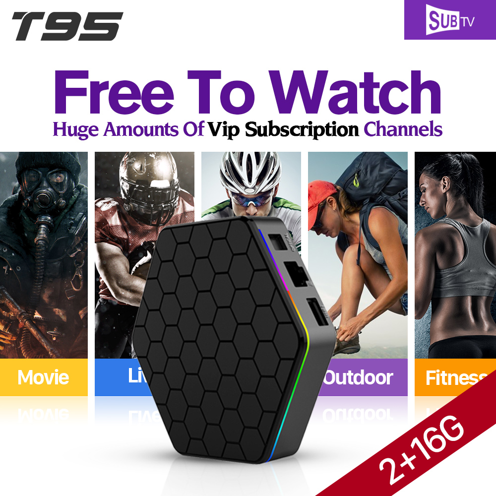 T95Z Plus Android 6.0 TV Box 2g S912 SUBTV IPTV Arabic French Channel Subscription 1 year Europe DE Turkey Italian Media Player trait d union level 2 cahier de lecture ecriture french edition