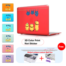 Case For Macbook Air 13″ Pro 13 Touch bar Cute Minions Jeans Print Plastic Hard Case for Mac book Pro 13 15 Retina Air 11 12 13