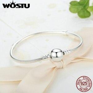Image 5 - Lüks 100% 925 ayar gümüş köpüklü kalp yılan zincir Fit orijinal Charm bilezik & bileklik kadınlar için güzel takı XCHS916