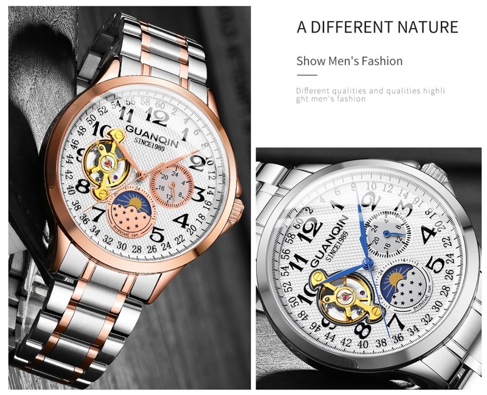HTB1h0v2XUCF3KVjSZJnq6znHFXaT GUANQIN mechanical watch men waterproof automatic skeleton tourbillon clock men business top brand luxury Relogio Masculino