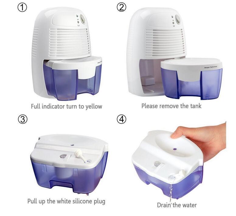 Mini Dehumidifier Household Mute Dehumidifier Wardrobe Dry Machine Silent Basement Dryer with 500ml Tank XROW-600 A цена и фото
