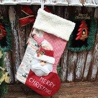 1pc Xmas Stocking Christmas Three Dimensional Sock Santa Claus Snowman Sock Christmas Gift Bag Christmas Decor