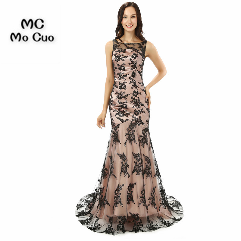 2017 See Though Mermaid   Prom     dresses   Long with Appliques   dress   for graduation Vestidos de fiesta Formal Evening   Dress