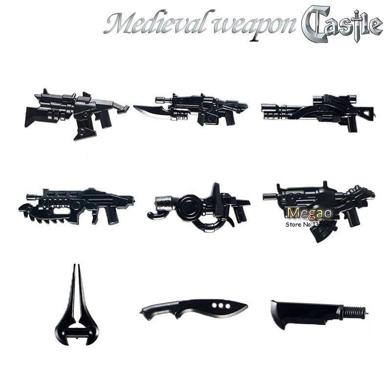 2017 Latest 10pcs/lot Buildng Blocks Weapons of  Halo Science fiction  Weapon Pack  Baby Toys