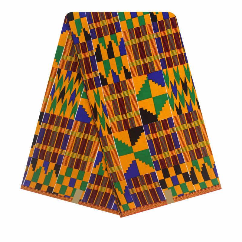 Фото Kente вощеная ткань нигерийская Анкара восковая печать высокого качества