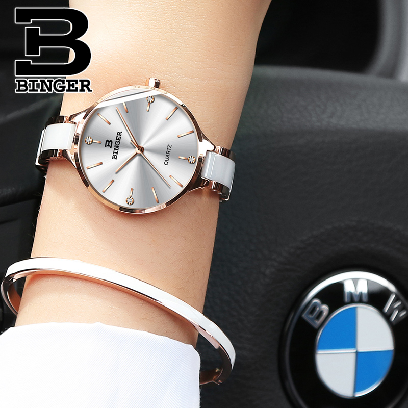 Image 4 - Switzerland BINGER Luxury Women Watch Brand Crystal Fashion Bracelet Watches Ladies Women wrist Watches Relogio Feminino B 11855-in Women's Watches from Watches