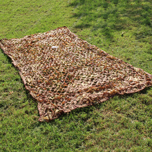 купить 2X3 2X4 2X5 2x6  Desert Sun Shelter Camouflage Net Outdoor CS Desert Military Camo Netting Cloth Garden Hide Cover Hunting Net по цене 627.86 рублей