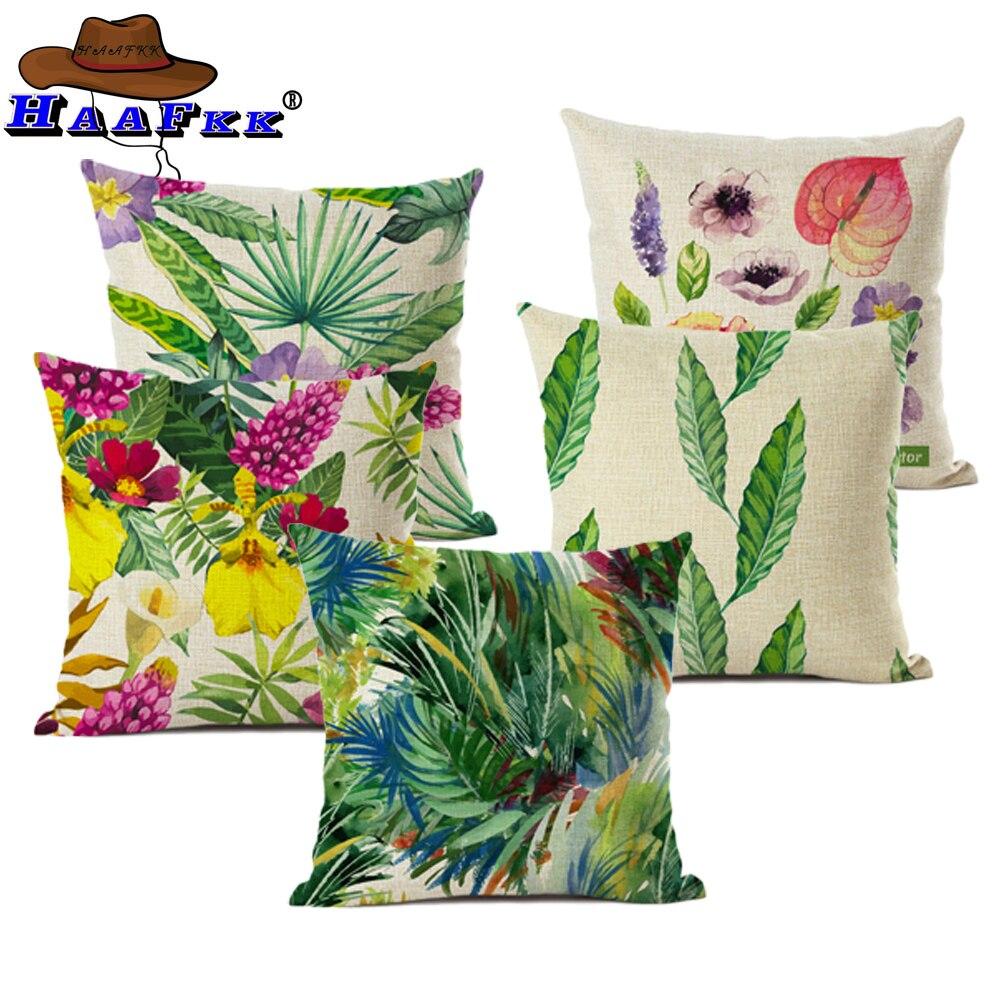Banana Leaf Decor Picture Pillow Case
