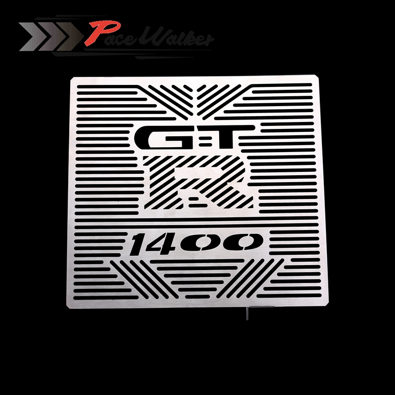 FREE SHIPPING Motorcycle Accessories Radiator Grille Guard Cover Protector For Kawasaki GTR1400 GTR 1400 2012-2014 motorcycle radiator grille grill guard cover protector golden for kawasaki zx6r 2009 2010 2011 2012 2013 2014 2015