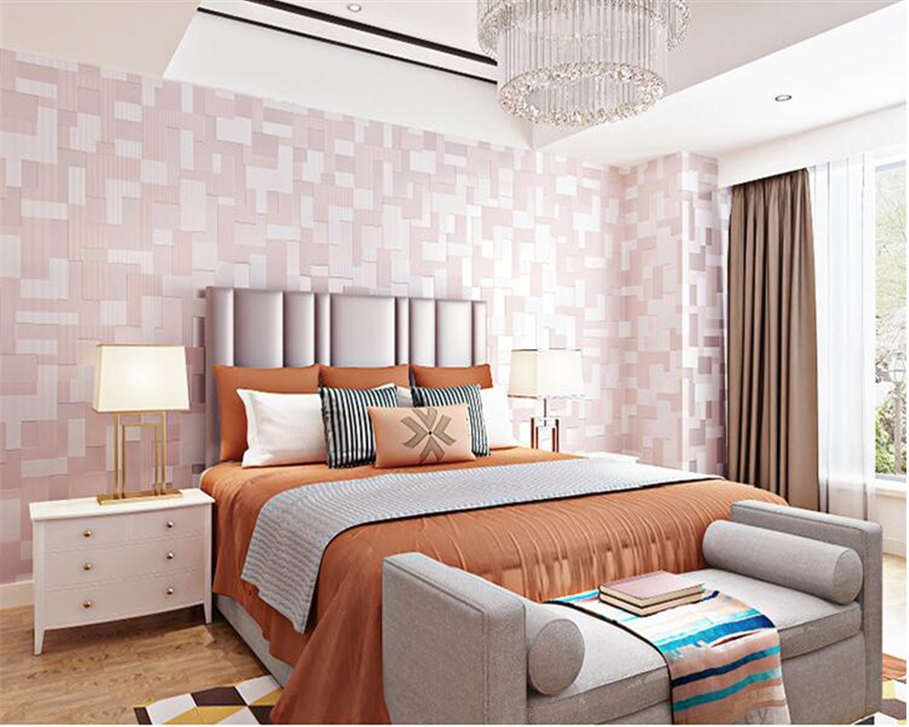 beibehang Modern minimalist 3D nonwoven wall paper bedroom living room TV personality papel de parede 3d wallpaper background beibehang classic fashion simple striped living room papel de parede wallpaper background wall full flocking nonwoven wallpaper