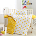 Hot sale CRIB BED linen 3pcs cute baby Bedding set include pillow case +bed sheet +duvet cover without filling 100% cottotton