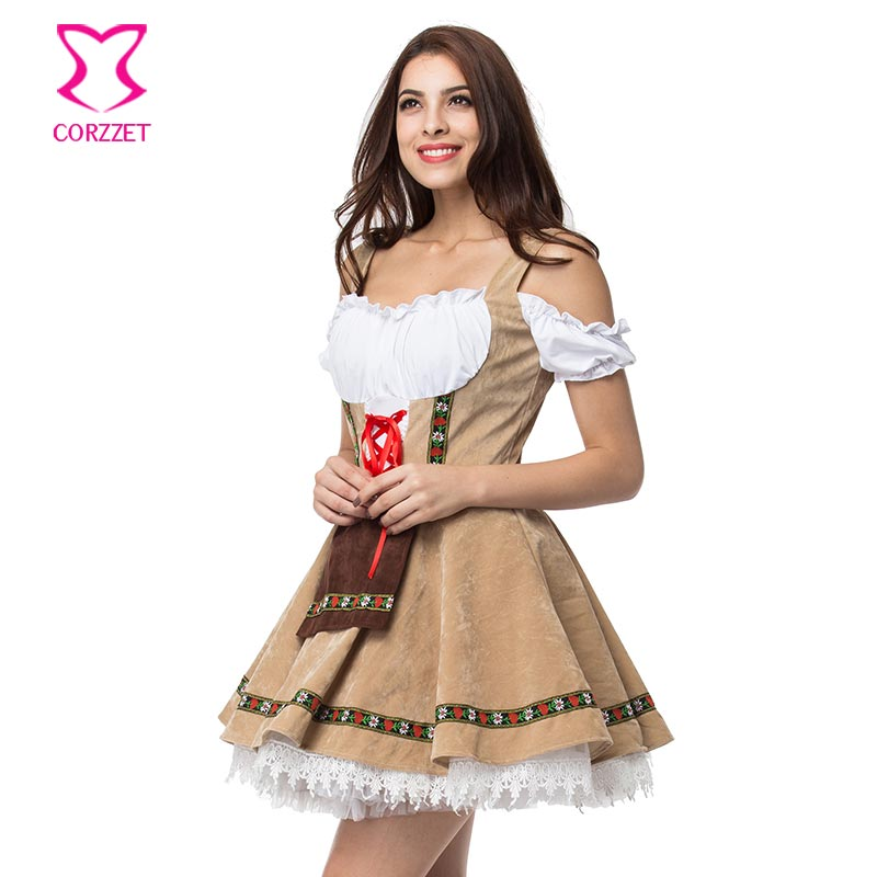 Womens Beer Maid Wench German Oktoberfest Costume Halloween Plus
