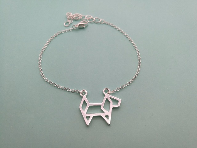 10pcs Origami Paper Pet Dog Bracelet Outline Lovely Puppy Cute Decoupage Animal Bracelets For Las