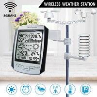 Беспроводной ветряной погоды дождь Скорость/направление Температура влажность дождь 868 мГц Крытый Открытый гигрометр прогноз Сенсор