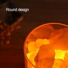 цена на USB Himalayan Crystal Rock Salt Lamp Night Light LED Air Purifier Bedside creative sleeping decor lamp Christmas gift