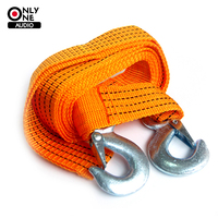 New Best Choice Car Truck Tow Rope Strap With Hooks 3 Meters 3 Tons