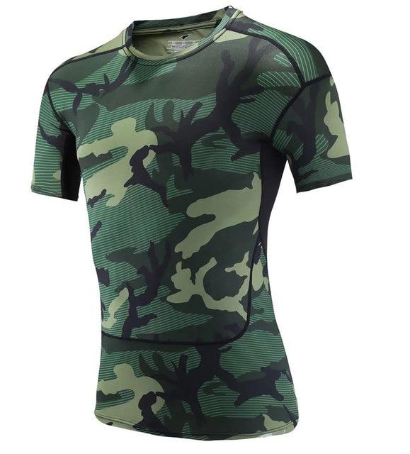 Camouflage Running Sets Men Sport Suit  2