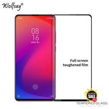 2PCS Full Glue Cover Glass Xiaomi Mi 9T Pro Screen Protector Tempered Phone Film <
