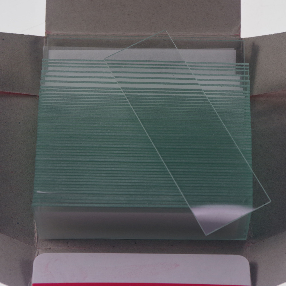 50pcs Laboratory Microscope Clear Micro Slides Glass 25.4mmx76.2mm Microscope Glass Slides Reusable
