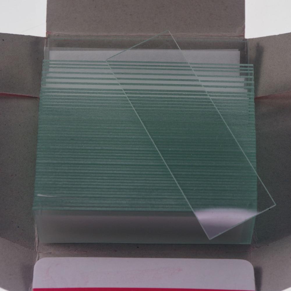 50pcs Laboratory Microscope Clear Micro Slides Glass 25.4mmx76.2mm Microscope Glass Slides Reusable