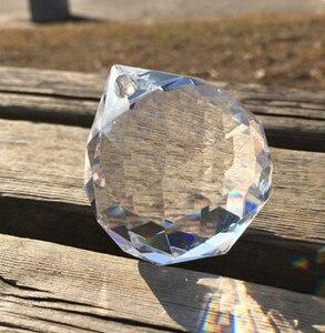 Image 1 - 40 шт./лот 50 мм граненый шар из хрустального стекла для подвесной люстры, призма, подвесные детали, бесплатная доставка