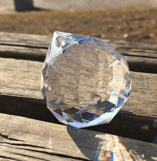 40 шт./лот 50 мм граненый шар из хрустального стекла для подвесной люстры, призма, подвесные детали, бесплатная доставка