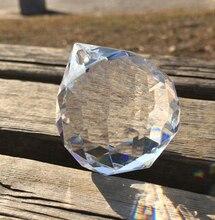 40 pçs/lote 50mm Peças Pingente De Prisma de Lustre de Vidro de Cristal Facetado Bola Para Pendurar Frete Grátis