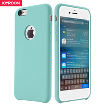 Joyroom Liquid Silicone Case For iPhone 6 6s 7 8 Plus Skin friendly Soft Phone Back Cover for iphone 7 6 6s 8 slim Case