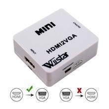 Mini HDMI to VGA Converter Audio Video Signal Output Adapter HDMI2VGA Support 10
