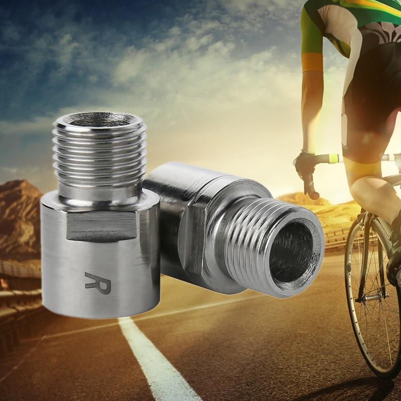 "Bicycle Pedal Left//Right Extender 9//16/"" Thread 20mm Bike Extender Steel//Titanium"