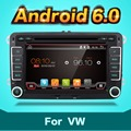 2 two din Aux gps Quad Core android 6.0 car dvd player Pc Gps Navigation Stereo Video Multimedia Capacitive Screen For VW Skoda