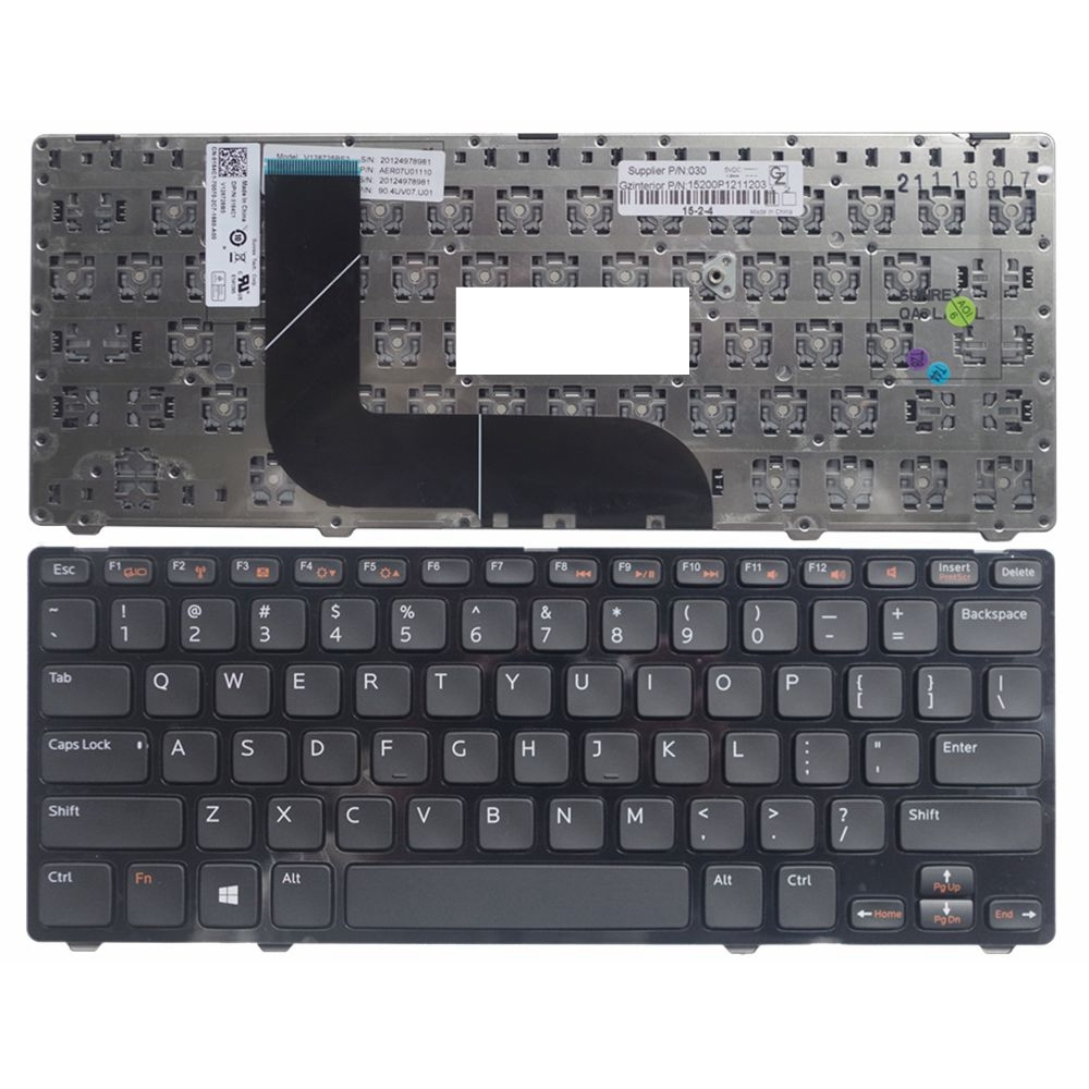 купить US laptop keyboard For Dell for Inspiron 5423 14z-5423 14Z 3360 1618l 13Z-5323 5323 for Vostro 3360 V3360 MP-11K53US6442W по цене 562.34 рублей
