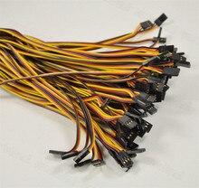 10pcs set 60 Cores 22AWG Servo Extension Lead Cord Wire Cale JR Plug 30cm 50cm 60cm