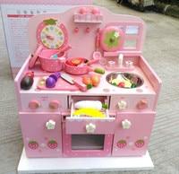Детские игрушки деревянная кухонная плита набор игрушек супер большая безопасность роскошный костюм супер красивая