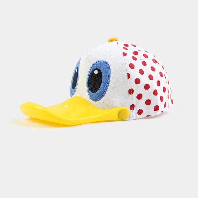 kids spring summer net cartoon duck visors boys red polka dot visera gorra nina girls sonable cute duckbill hats kind zonneklep