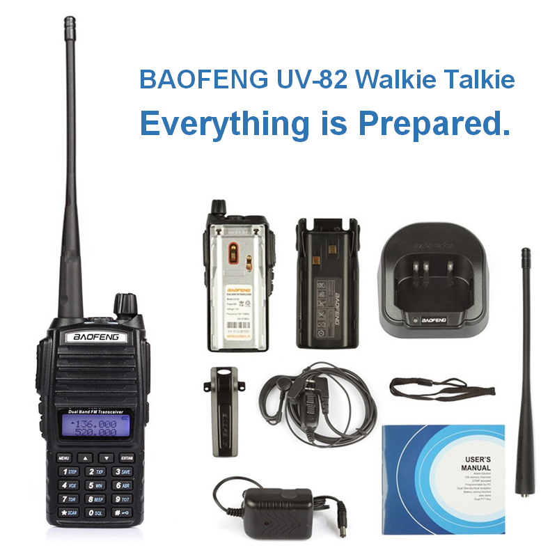 BAOFENG UV-82 talkie-walkie 10 km Cb Radio Baofeng UV 82 UV82 talkie-walkie Portable Baofeng 82 Radio de chasse à pied