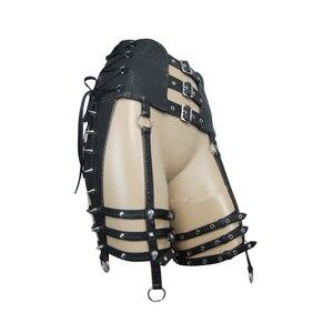 Image 5 - Ağır Punk kemer kişilik perçin pantolon seti bel kadın PU kemer aksesuarları için benzersiz tasarım siyah ince toka kemer kadın moda