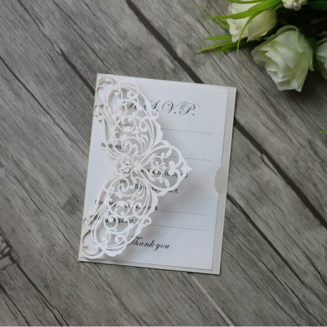 50pcs personalized hollow cut out rsvp cards wishing well cards 50pcs personalized hollow cut out rsvp cards wishing well cards thank you cards wwedding invitation cards stopboris Gallery