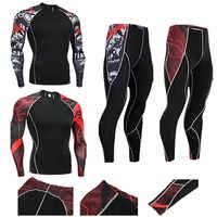 2018 19 Mens Compression Set Laufhose Workout Fitness Training Trainingsanzug Langen Ärmeln Shirts Sport Anzug rashgard kit S-4XL