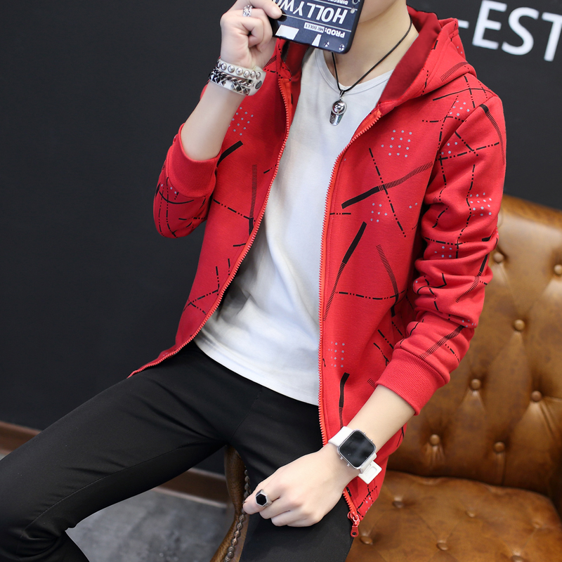 Jackets Men Korean Style Casual Males Coat Students Slim Fit Mens Printed Long Sleeve High Quality Comfortable Ulzzang Daily 34