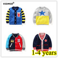 1-4Y Boys Cardigan Children sweatercoat Kids Sweater Baby Jacket Brand Knitted Girl Brand Outwear Winter Autumn coat Clothes
