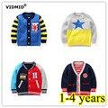 1-4Y Meninos Cardigan Crianças Jaqueta Marca Malha sweatercoat Crianças Camisola Do Bebê Marca Menina Roupas casaco Outwear Outono Inverno