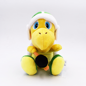 2017 Free Shipping 18cm Super Mario Bros Plush Koopa Troopa With Hammer  Plush Toy Stuffed Toys Doll Gift For Kids