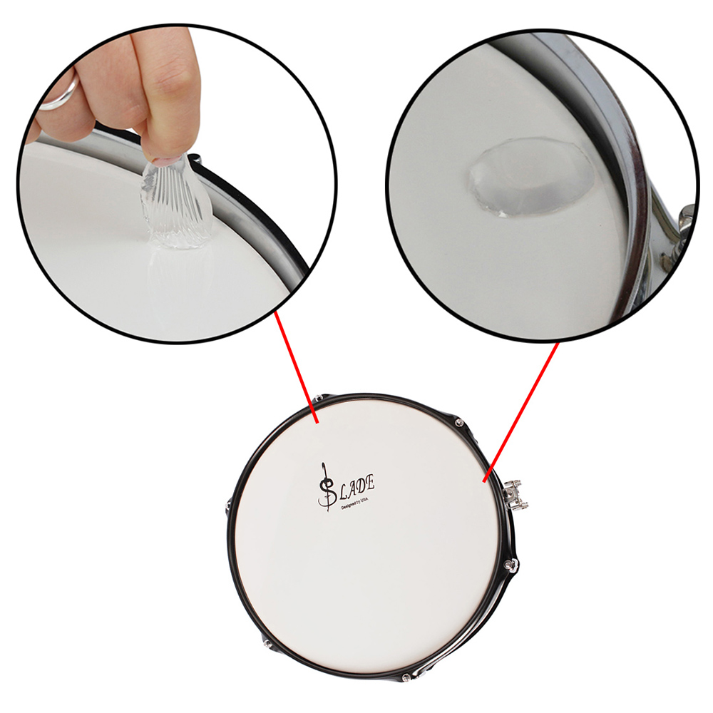 6pcs Set Snare Drum Mute Pad Damper Gel Pads Tom Diagram Muffler Transparent Percussion Instrument Accessories In Parts From