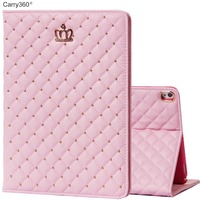 Case For IPad Pro 10 5 Carry360 Brand New Luxury Pink Cute Crown PU Leather Stand